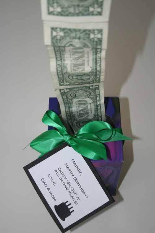 تزیین پول در جعبه کادو