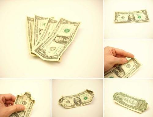 تزیین پول به شکل گل رز