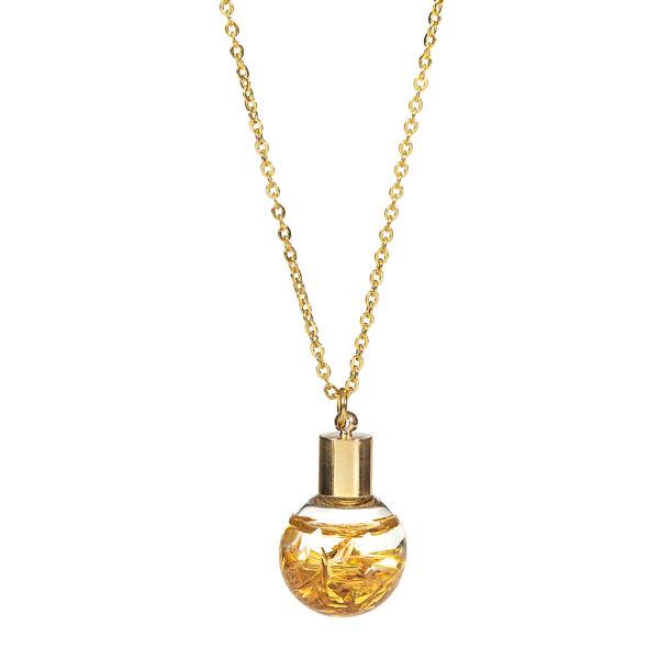 گردنبند طلا 24 عیار زنانه آلتین هنر طرح گوی کد 1351