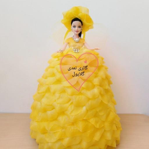 عروسک باربی گلبرگی زرد