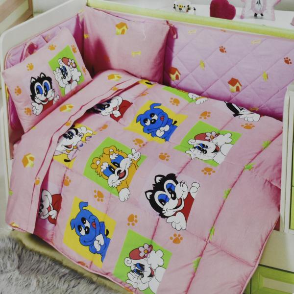 سرویس خواب 6 تکه نوزادی کریستال مدل Sweet animals