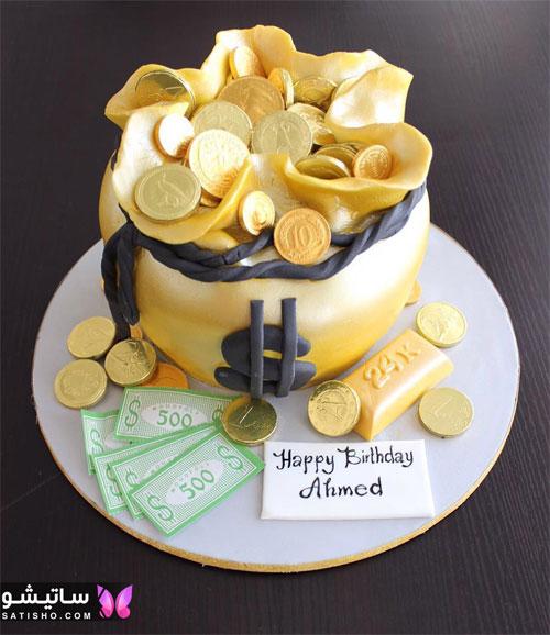 کیک تولد پسرانه ساده و شیک