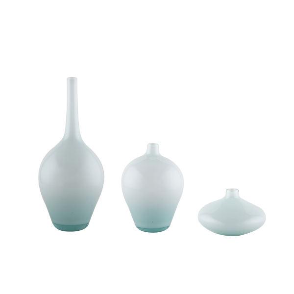 گلدان شیشه ای طرح سالونگ مجموعه سه عددی